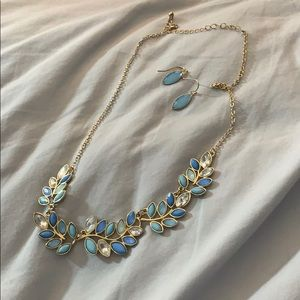 Francesca's Collections Jewelry - Blue earring and necklace set